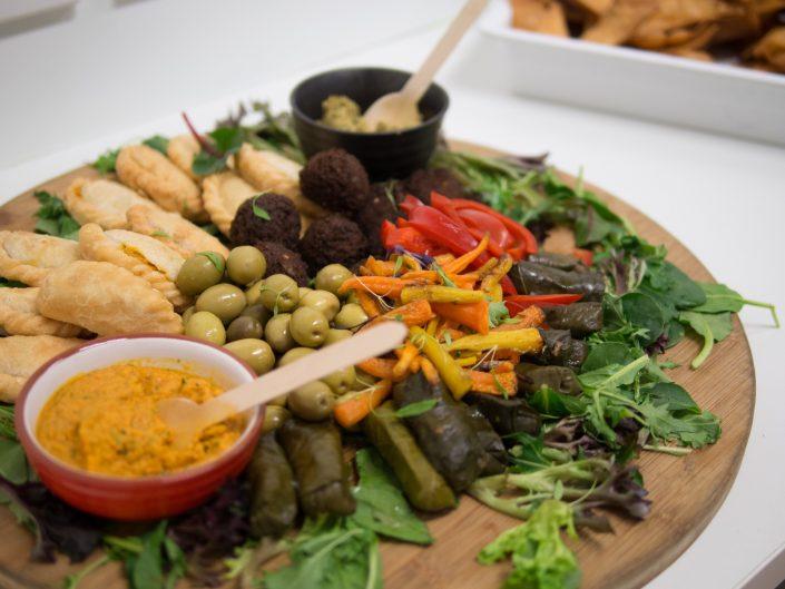 A platter of food